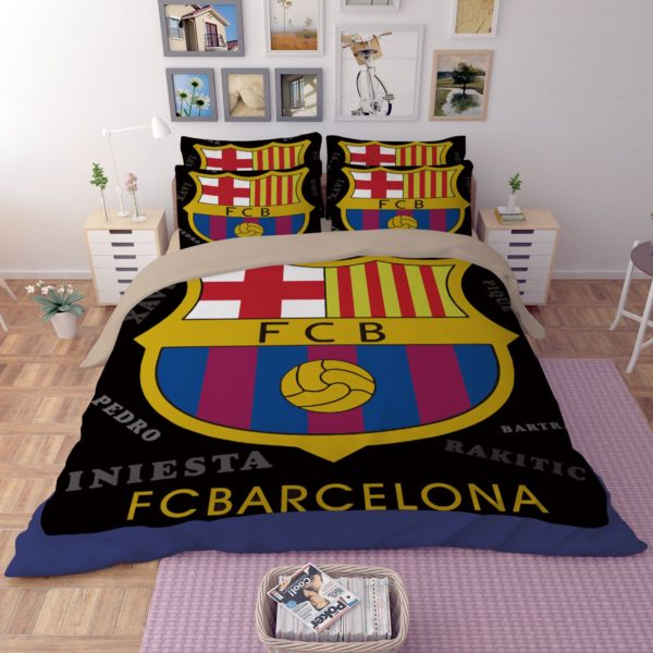 Fc Barcelona Queen Bed Set