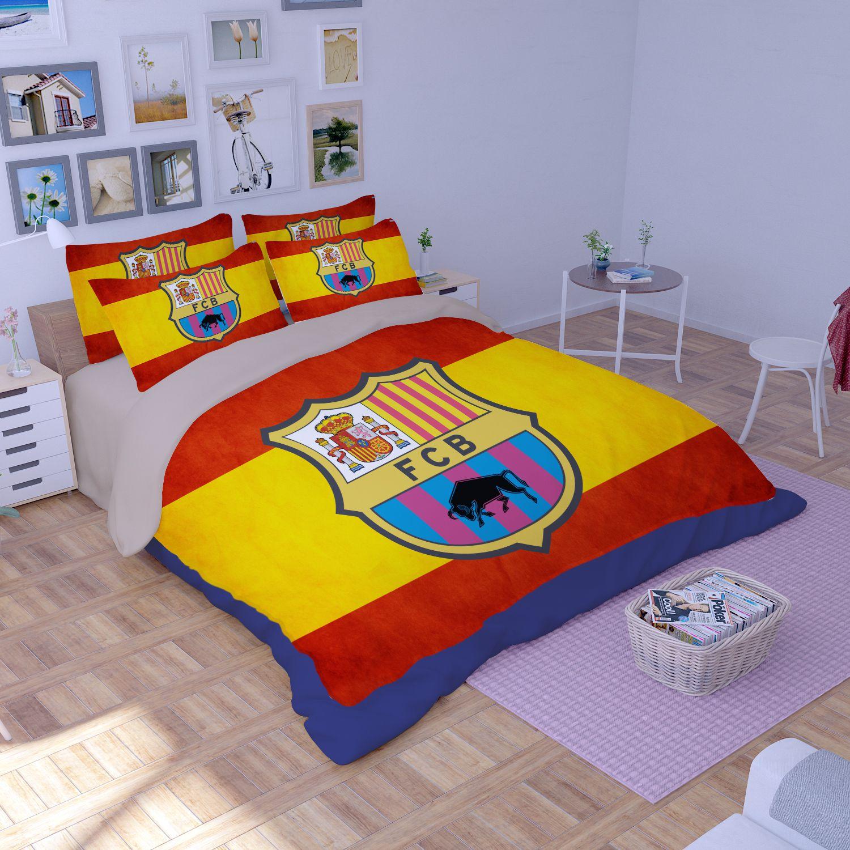 Football Rugs St George Flag Kids: FCB Barcelona Flag Printed Bedding Set