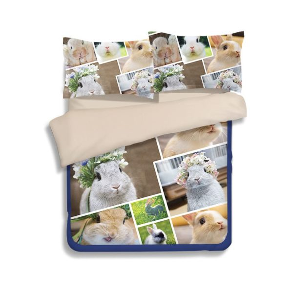 Fancy Rabbits Printed Bedding Set 2 600x600 - Fancy Rabbits Printed Bedding Set