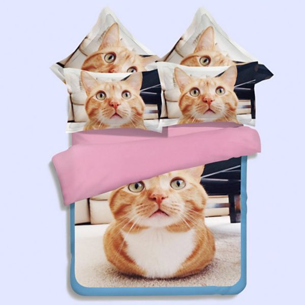 Fluffy Browney Cat Printed Bedding 600x600 - Fluffy Browney Cat Printed Bedding