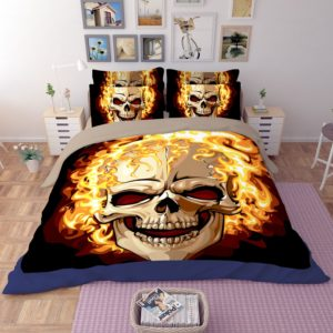Ghost Rider Fire Skull Printed Bedding Set 3 300x300 - Ghost Rider Fire Skull Printed Bedding Set