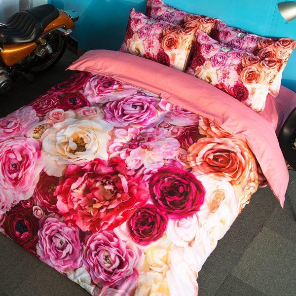 Glamorous Pink Rose Bedding Set