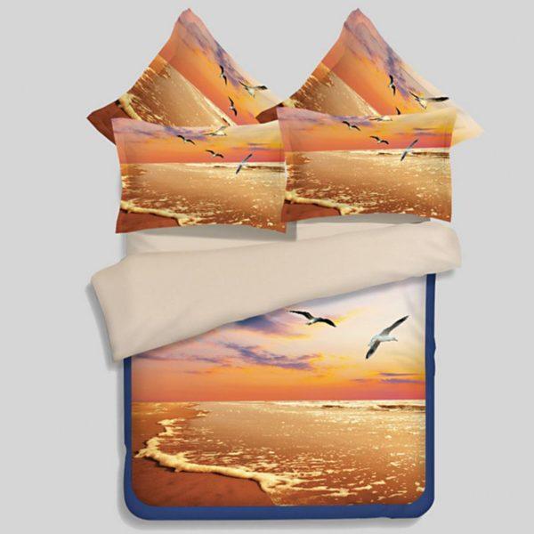 Golden Sea View Printed Bedding Set 1 600x600 - Golden Sea View Printed Bedding Set