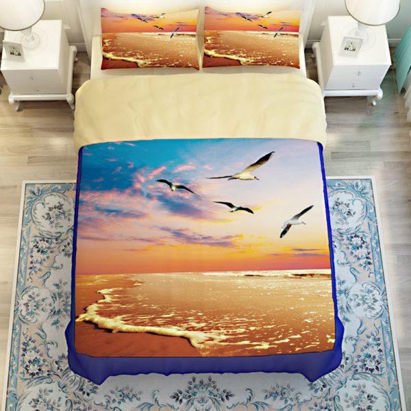 Golden Sea View Printed Bedding Set 4 600x600 - Golden Sea View Printed Bedding Set