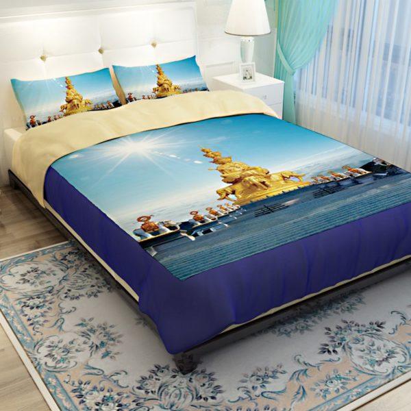 Golden Statue of Puxian Bedding Set