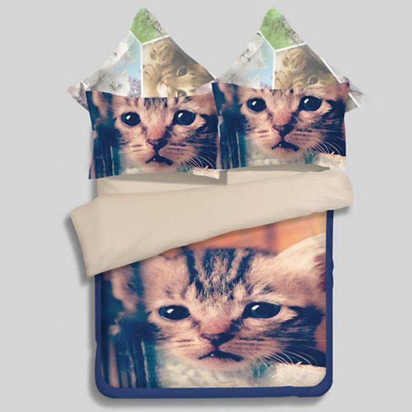 Gorgeous Cat Printed Bedding Set 1 600x600 - Gorgeous Cat Printed Bedding Set