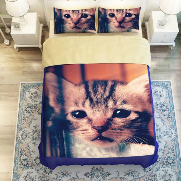 Gorgeous Cat Printed Bedding Set 2 600x600 - Gorgeous Cat Printed Bedding Set