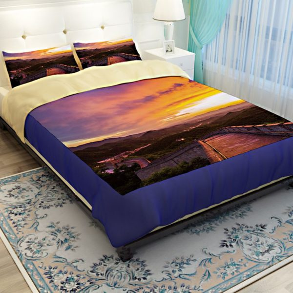 Great Wall Sunset Picture Printed Bedding Set 2