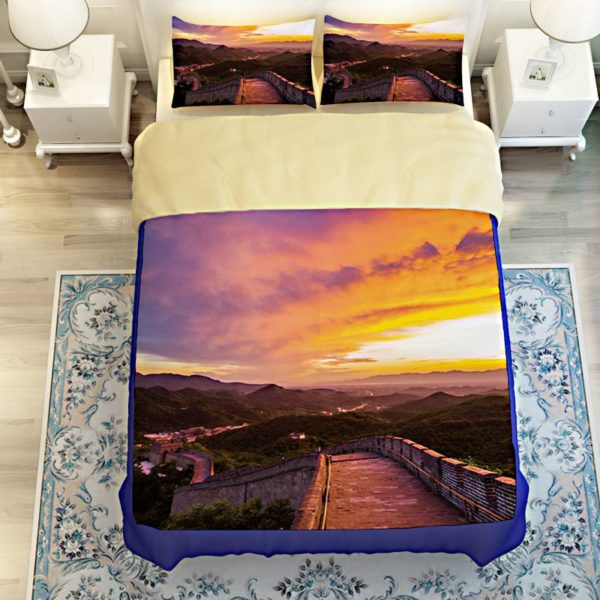 Great Wall Sunset Picture Printed Bedding Set 3