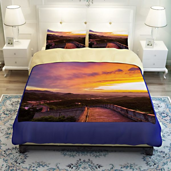 Great Wall Sunset Picture Printed Bedding Set 4