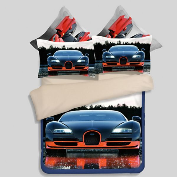 HD Bugatti Veyron Car Printed Bedding Set 1 600x600 - HD Bugatti Veyron Car Printed Bedding Set