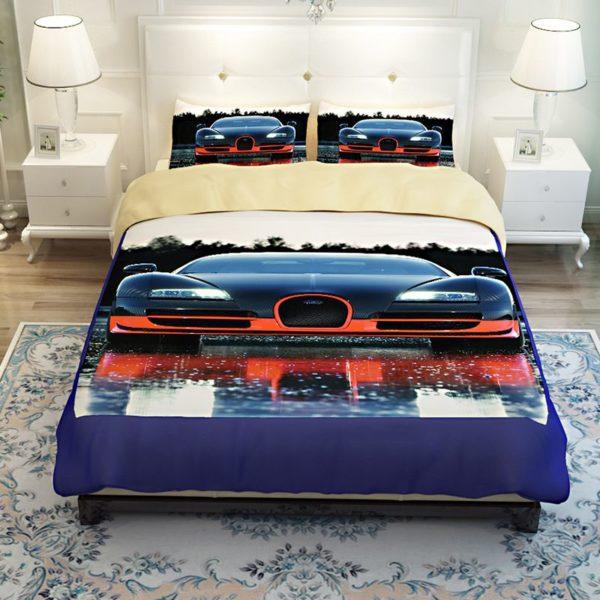 HD Bugatti Veyron Car Printed Bedding Set 2 600x600 - HD Bugatti Veyron Car Printed Bedding Set