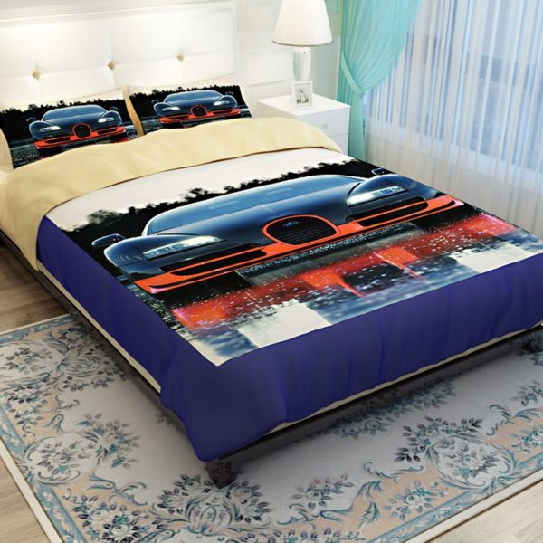 HD Bugatti Veyron Car Printed Bedding Set 3 600x600 - HD Bugatti Veyron Car Printed Bedding Set