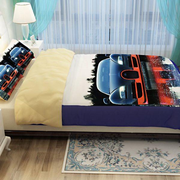 HD Bugatti Veyron Car Printed Bedding Set 5 600x600 - HD Bugatti Veyron Car Printed Bedding Set