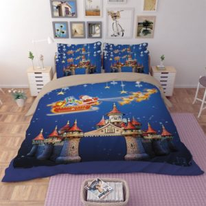Happy Christmas Castle Bedding Set
