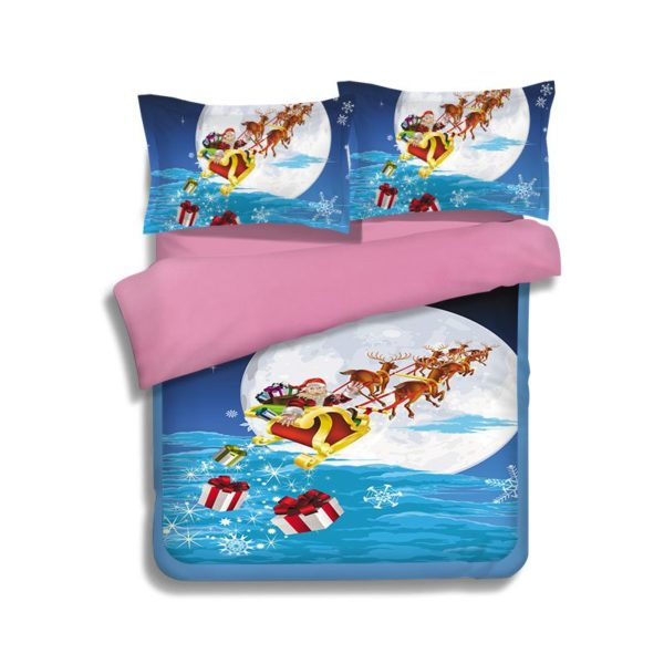 Happy Christmas Theamed Bedding Set 2 600x600 - Happy Christmas Theamed Bedding Set