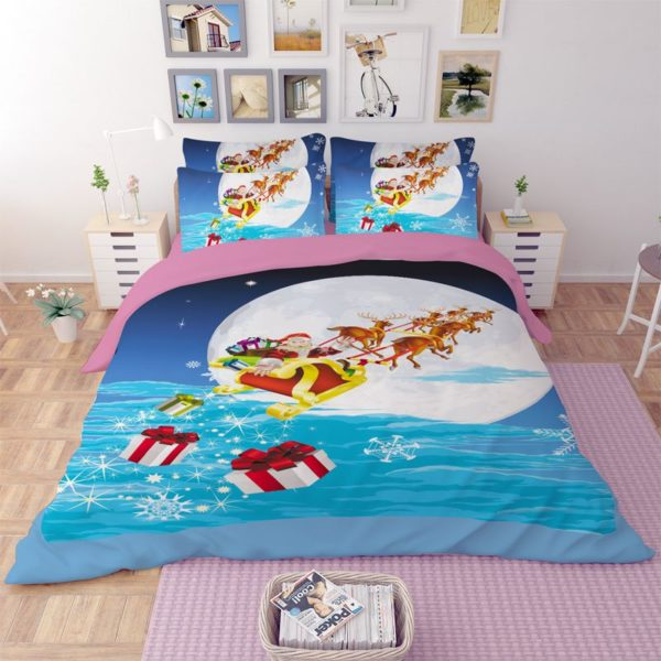 Happy Christmas Theamed Bedding Set 4 600x600 - Happy Christmas Theamed Bedding Set