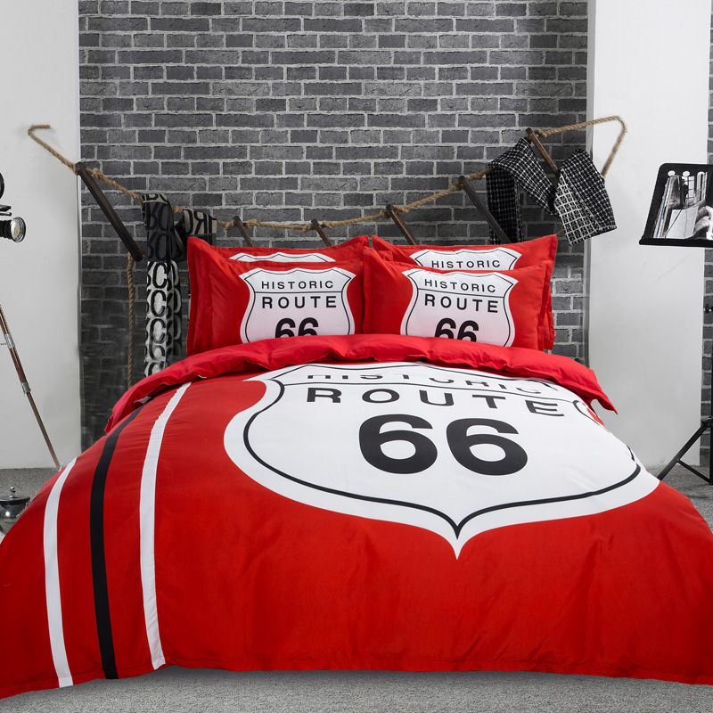 Historic Route 66 Red Amp White Bedding Set Ebeddingsets