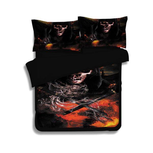 Horror Skull 3D Printed Bedding Set 2 600x600 - Horror Skull 3D Printed Bedding Set