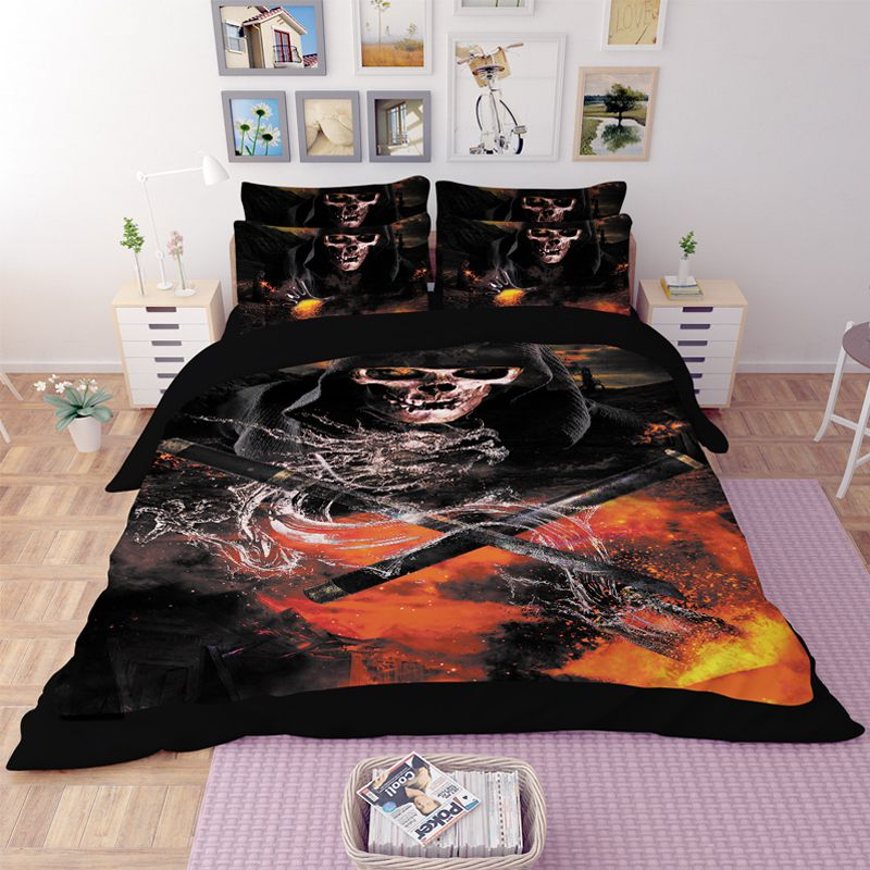 Horror Skull 3d Printed Bedding Set Ebeddingsets