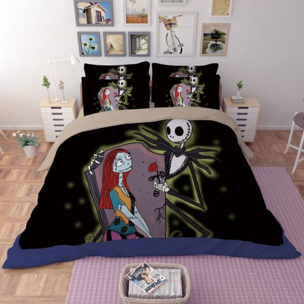 Jack Skellington and Sally Bedding Sets 2 600x600 - Jack Skellington and Sally Bedding Sets