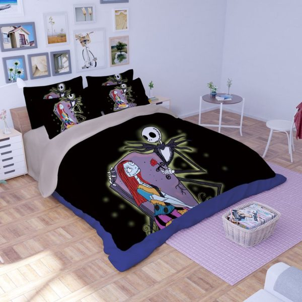 Jack Skellington and Sally Bedding Sets 3 600x600 - Jack Skellington and Sally Bedding Sets