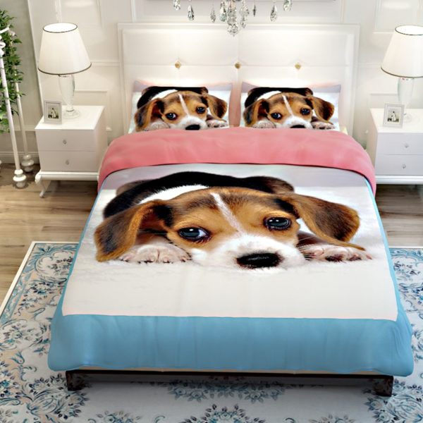 Labrador Dog printed Bedding set 2 600x600 - Labrador Dog printed Bedding set