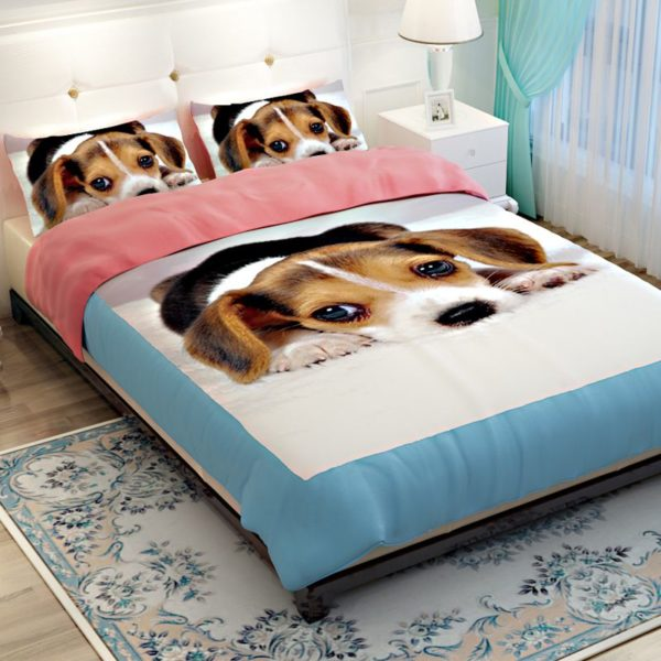 Labrador Dog printed Bedding set 4 600x600 - Labrador Dog printed Bedding set