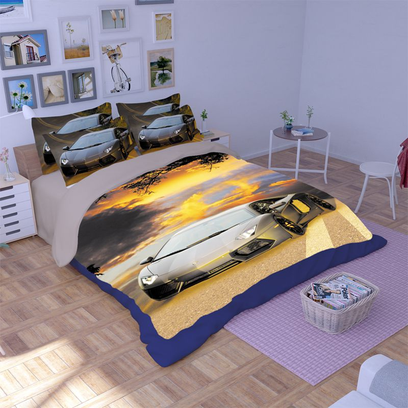 Lamborghini Aventador Car Printed Bedding Set Ebeddingsets