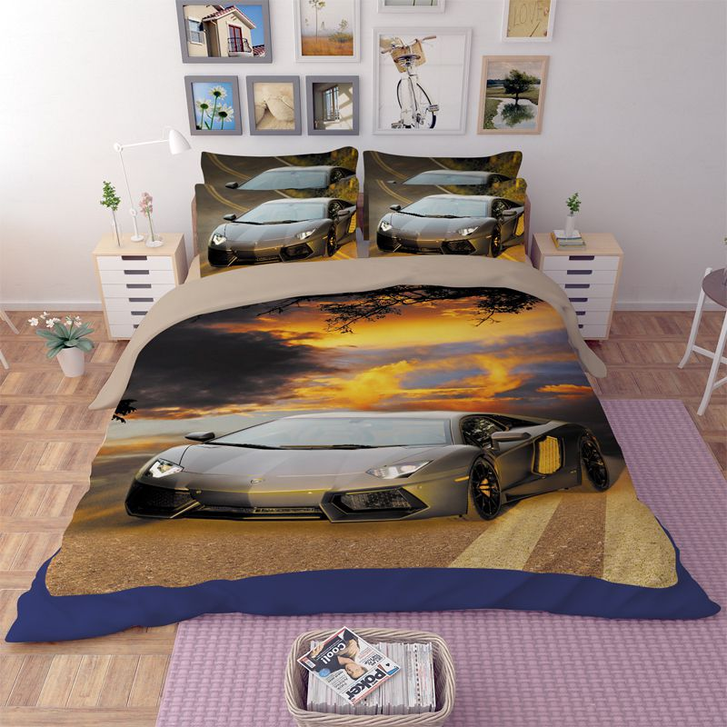 Lamborghini Aventador Car Printed Bedding Set Ebeddingsets