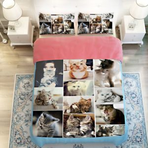 Lovable Cute Cats Printed Bedding Set 2 300x300 - Lovable Cute Cats Printed Bedding Set