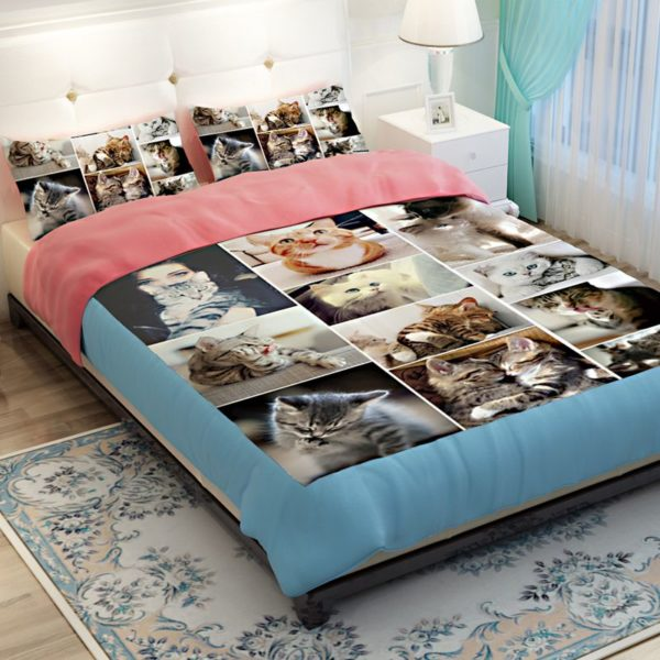 Lovable Cute Cats Printed Bedding Set 3
