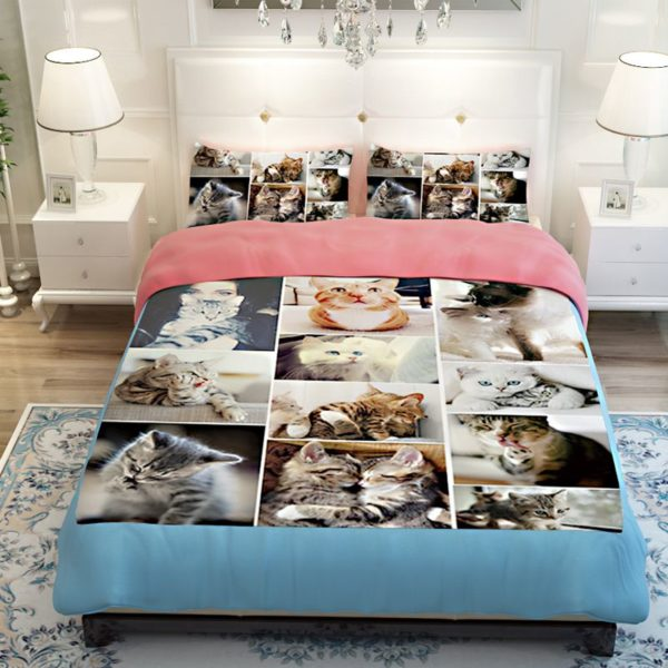 Lovable Cute Cats Printed Bedding Set 4
