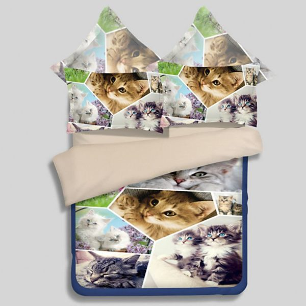 Lovely Cats Printed Bedding Set 1