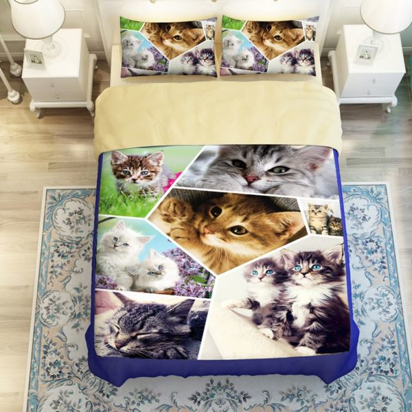 Lovely Cats Printed Bedding Set 2