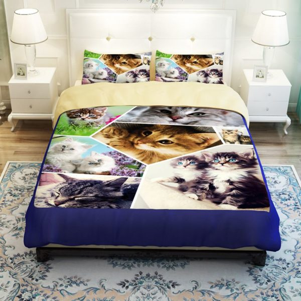 Lovely Cats Printed Bedding Set 3