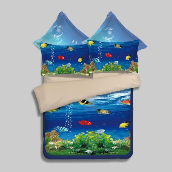 Lovely Fish Ocean Bedding Set 1 600x600 - Lovely Fish Ocean Bedding Set