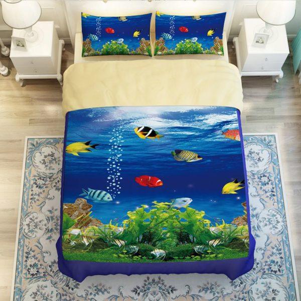 Lovely Fish Ocean Bedding Set 3 600x600 - Lovely Fish Ocean Bedding Set