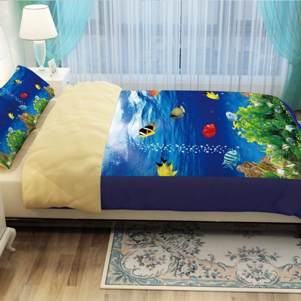 Lovely Fish Ocean Bedding Set 4 600x600 - Lovely Fish Ocean Bedding Set
