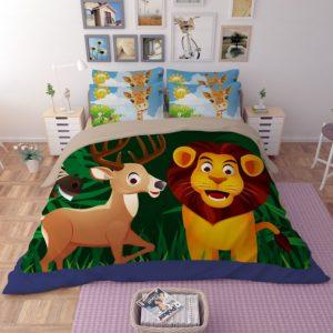 Lovely Lion Wildlife Printed Bedding Set 1 300x300 - Lovely Lion Wildlife Printed Bedding Set