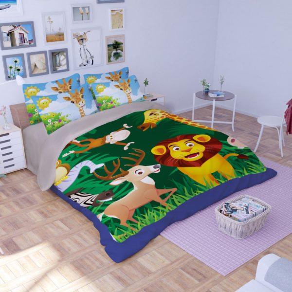 Lovely Lion Wildlife Printed Bedding Set 2 600x600 - Lovely Lion Wildlife Printed Bedding Set