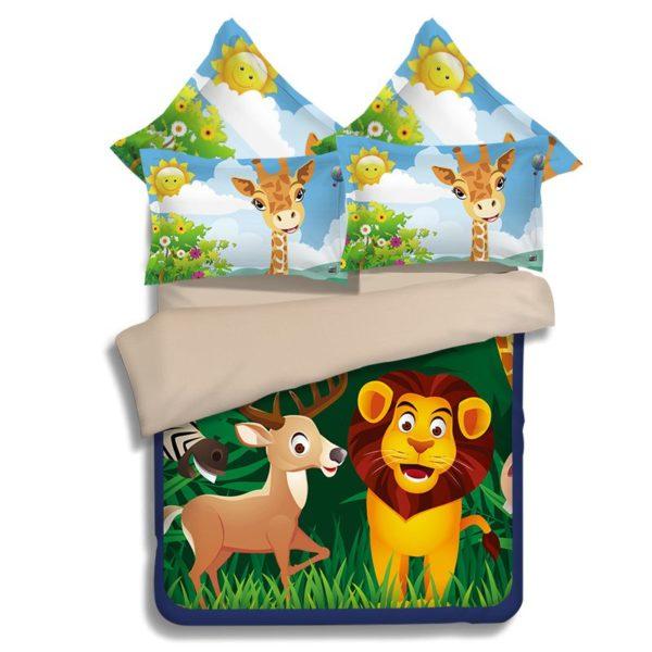 Lovely Lion Wildlife Printed Bedding Set 4 600x600 - Lovely Lion Wildlife Printed Bedding Set