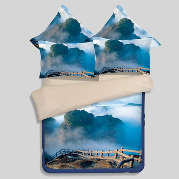 Lovely Nature Blue Themed Bedding Set 1 600x600 - Lovely Nature Blue Themed Bedding Set