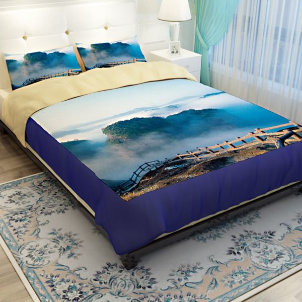 Lovely Nature Blue Themed Bedding Set 2 600x600 - Lovely Nature Blue Themed Bedding Set