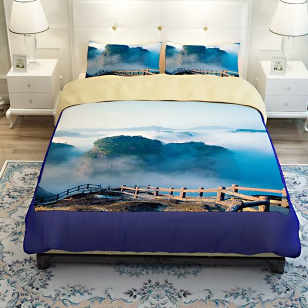 Lovely Nature Blue Themed Bedding Set 3 600x600 - Lovely Nature Blue Themed Bedding Set