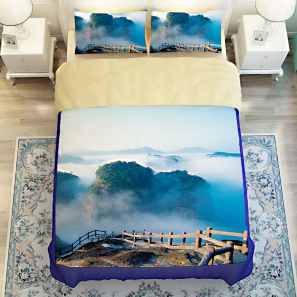 Lovely Nature Blue Themed Bedding Set 4 600x600 - Lovely Nature Blue Themed Bedding Set