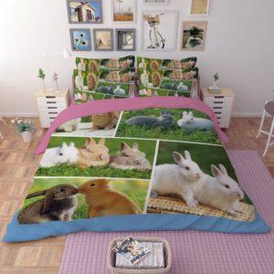 Lovely Rabbit Printed Bedding Set 1 300x300 - Lovely Rabbit Printed Bedding Set