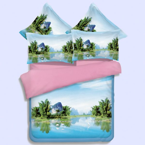 Lovely Riverfront Printed Bedding Set 1 600x600 - Lovely Riverfront Printed Bedding Set