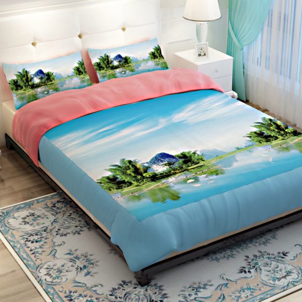Lovely Riverfront Printed Bedding Set 2 600x600 - Lovely Riverfront Printed Bedding Set