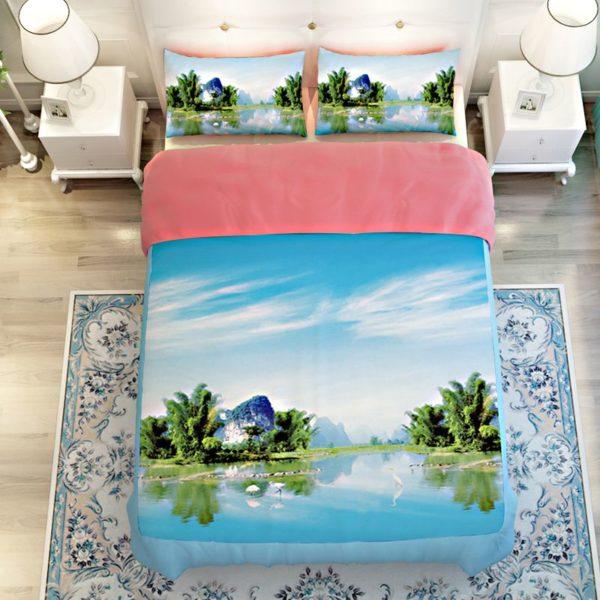 Lovely Riverfront Printed Bedding Set 3 600x600 - Lovely Riverfront Printed Bedding Set